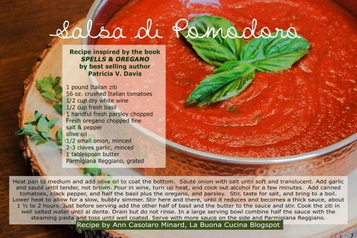 Salsa Italiana Recipe Card Back