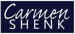 Carmen Shenk logo on Navy